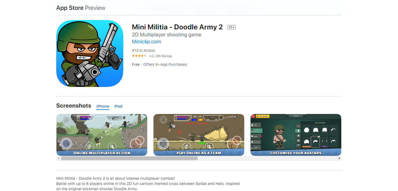 Mini militia game download