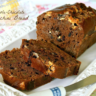 Triple Chocolate Zucchini Bread with White Chocolate Chips, Blueberry Craisins & Pecans Recipe