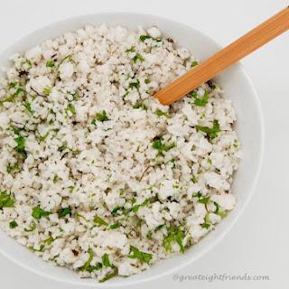 Coconut Lime Cilantro Rice.
