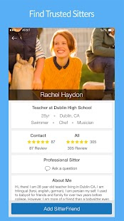 SitterFriends Book babysitters- screenshot thumbnail