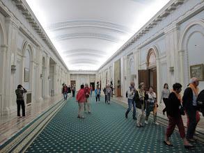 Photo: Rou3S125-151001Bucarest, Parlement, niveau 1er sous sol, longue salle couloir IMG_8626