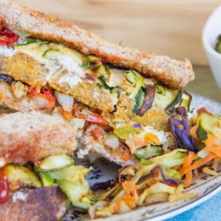Veggie burger sandwich {GF + V}.