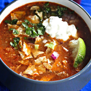 Slow-Cooker Chicken Tortilla Soup With All the Fixings.