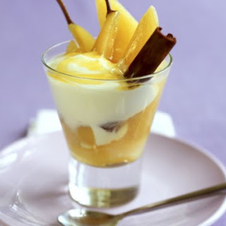Poached Pear Dessert.