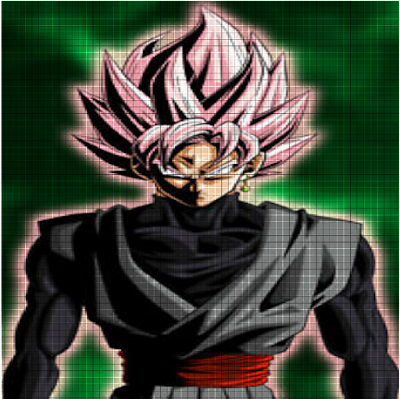 This is a paint of a Fan of Goku Black