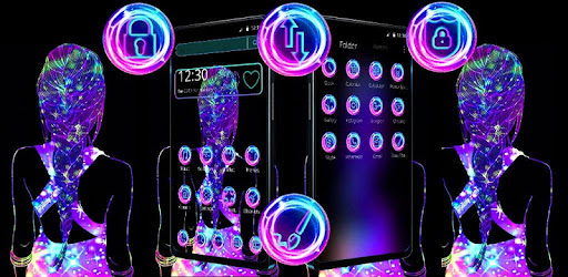 Black Neon Girl Theme Aplikacii Na Google Play