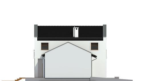 Kasjopea z garażem 1-st. bliźniak A-BL2 - Elewacja lewa