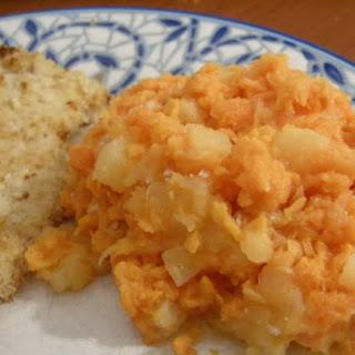 Honey Pineapple Sweet Potatoes & Fiery Fried Chicken