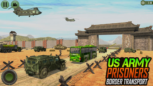 Offroad US Army Transport Prisoners Bus Driving  screenshots 5