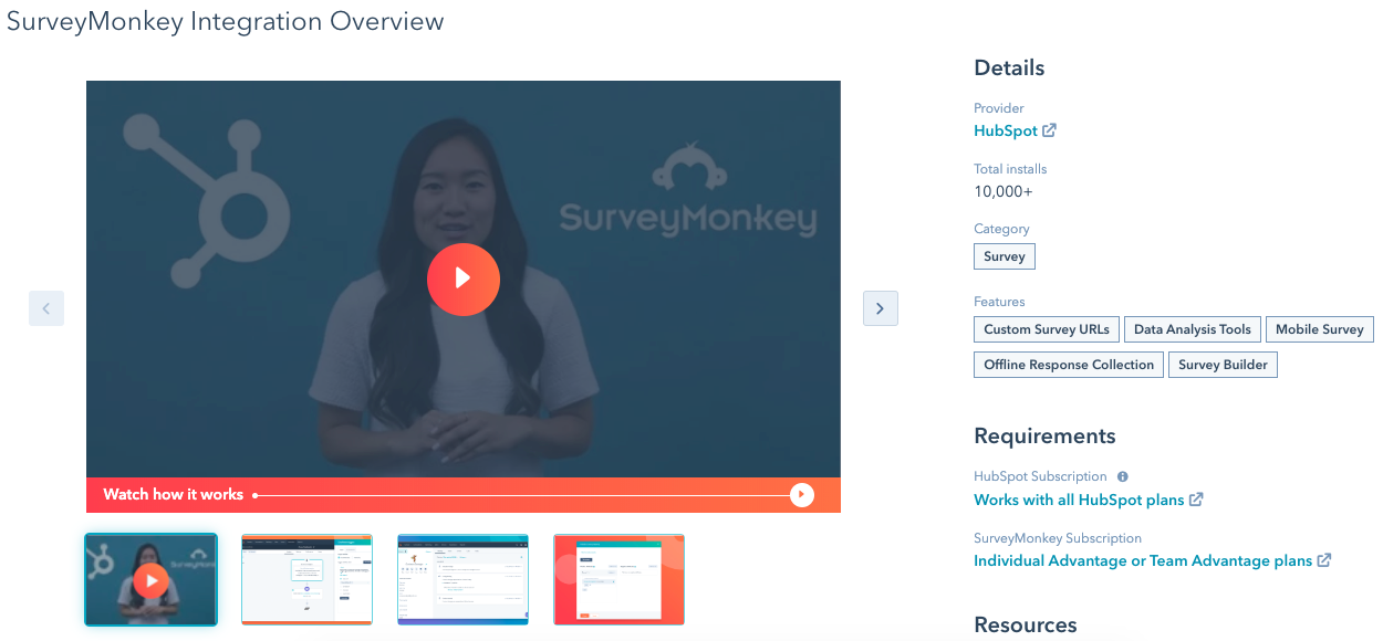 surveymonkey hubspot integration