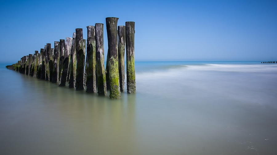Poles by Eddy Maerten - Landscapes Waterscapes ( blue sky, waterscape, nice )