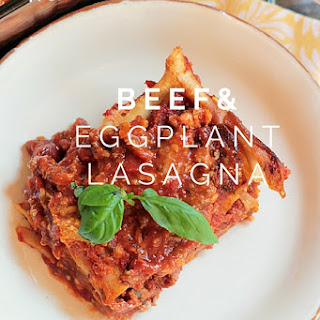Eggplant is the hidden vegetable in this  terrific meaty lasagna; make two, one for now and one for later.  What do you do when you encounter foods that you DON'T like? I'm asking , because I sometimes face this situation. Take for instance, these