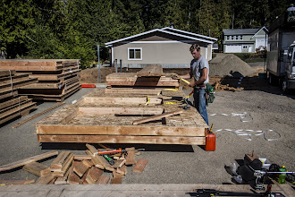 Photo: The owner wants this house up as quickly as possible, so he elected to have the lumberyard build the walls in panels.