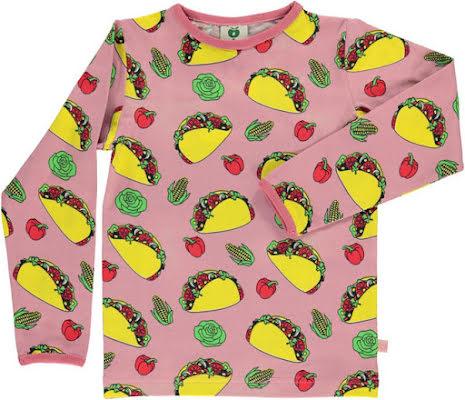 Småfolk T-shirt LS Taco Pink