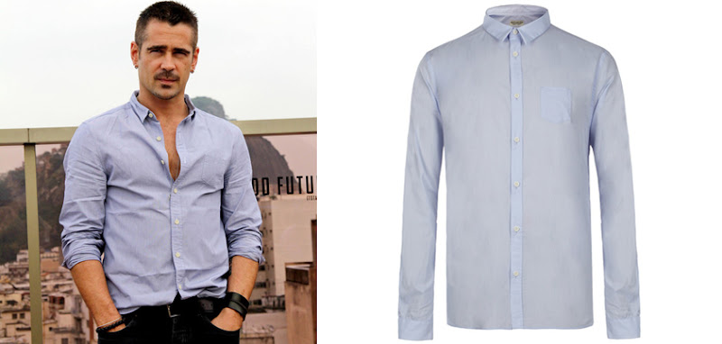 """Photo: Spotted // Colin Farrell wearing our Juergens Shirt at the Photo call for the New """"Total Recall"""" movie.  Shop Colin's look here!>> UK>http://bit.ly/SJjW5N US>http://bit.ly/NARlxm"""