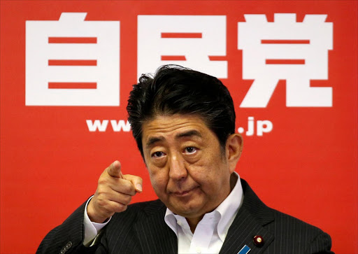 Japan's prime minister and leader of the ruling Liberal Democratic Party Shinzo Abe addresses a news conference in Tokyo, Japan. Picture: REUTERS/TORU HANAI