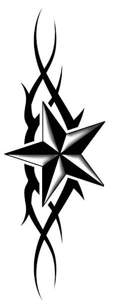 Small Designs Tattoo Tribal Star