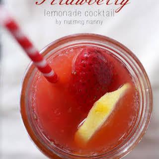 Homemade Strawberry Vodka & Lemonade Cocktail.