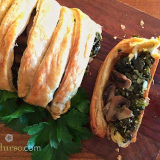 Spinach Mushroom Roll