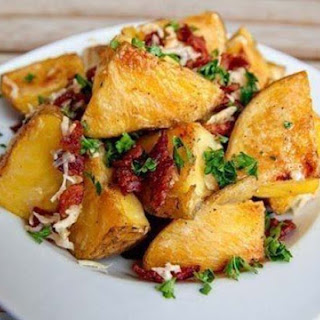 Baked Potatoes And Bacon