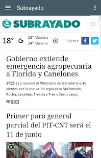 Noticias del Uruguay- screenshot thumbnail