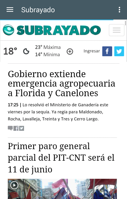 Noticias del Uruguay- screenshot