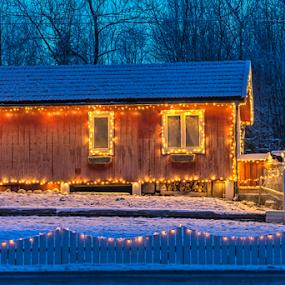 Christmas lights_2 by Johannes Mikkelsen - Public Holidays Christmas ( lights, home, building, art, christmas, artistic, architectural detail, architecture, landscape )