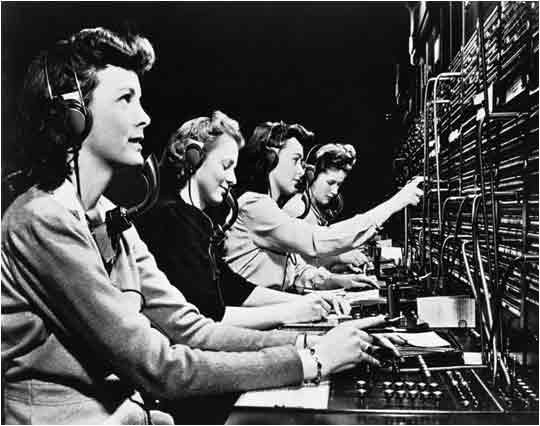 Receptionist Team Working on Switchboards