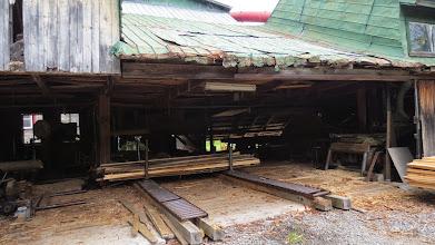 Photo: Intérieur de la scierie !