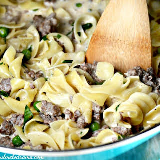 One-Pot Ground Beef Stroganoff.