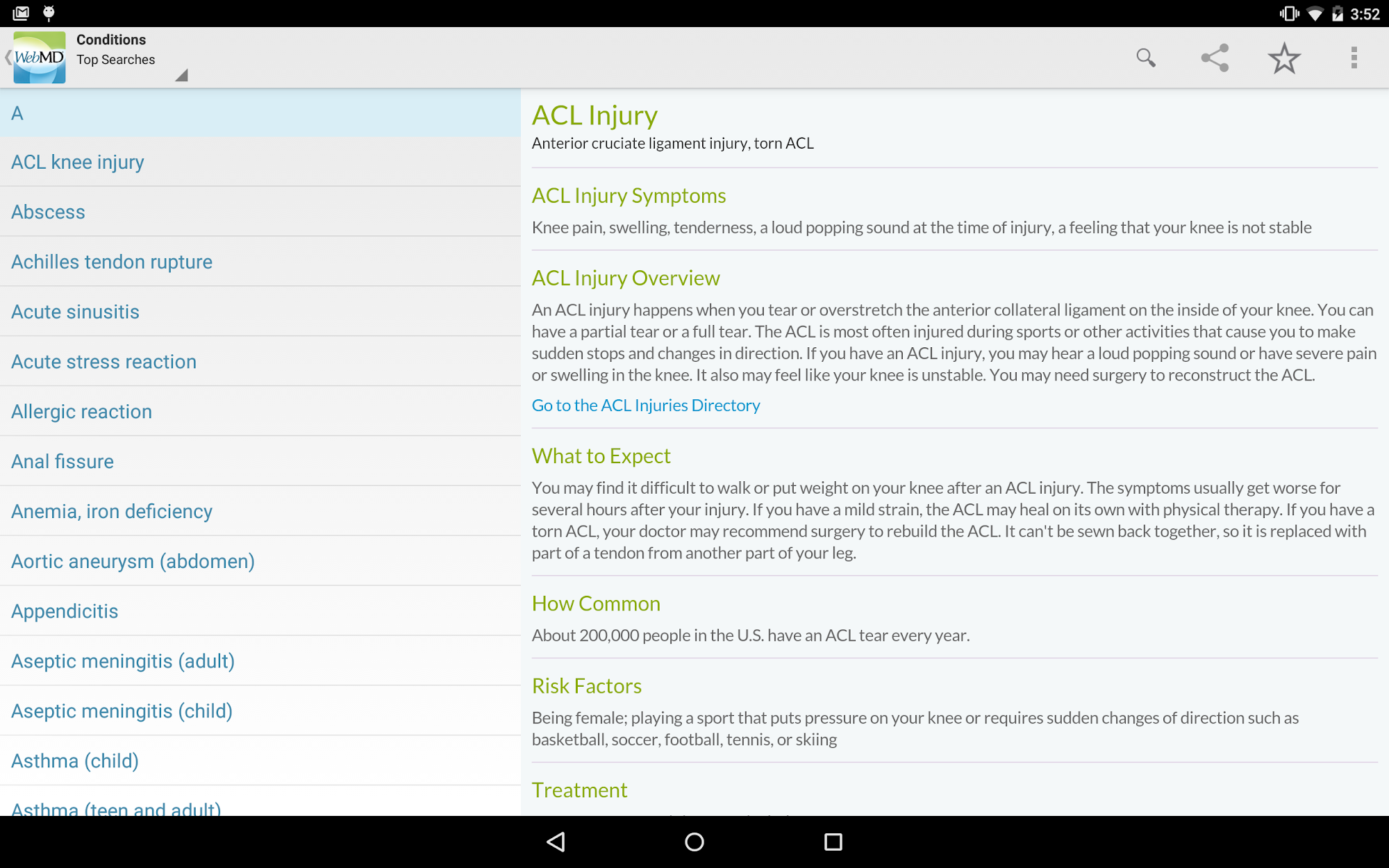 WebMD for Android screenshot #8