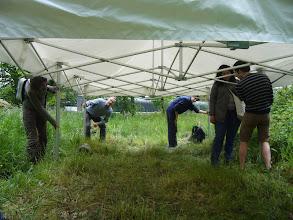 Photo: Démontage de la tente