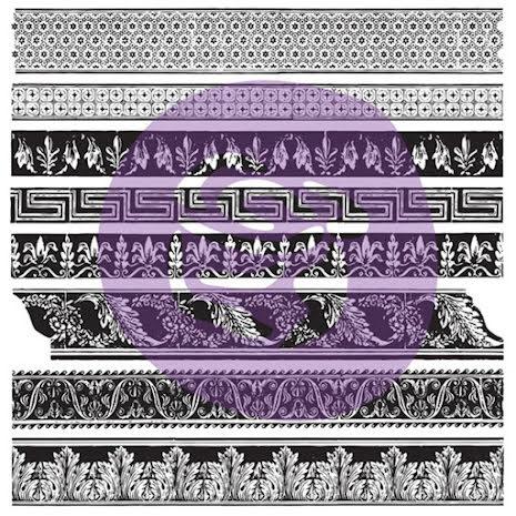 Prima Iron Orchid Designs Decor Clear Stamps 12X12 - Medium Trims