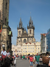 Photo: Gothic Tyn church in Old Town Square with its Disney-esque towers..