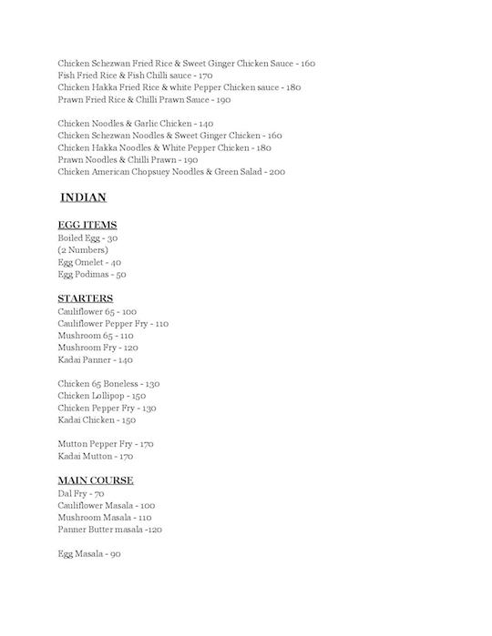 Mirchis menu 2