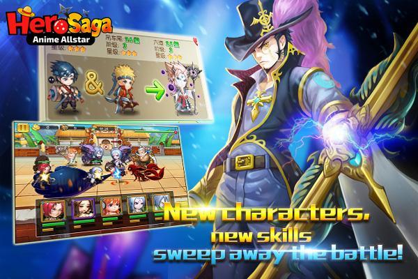 android Hero Saga - Anime Melee Game Screenshot 1