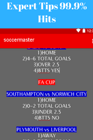 Expert Soccer Predictions 2017- screenshot