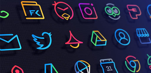 Stunningly Different look with Line Icons and Neon Colors