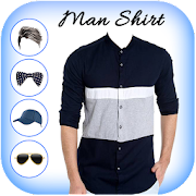 Man Blue Shirt Photo Suit