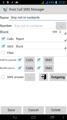 Root Call SMS Manager v1.10 [Unlocked]