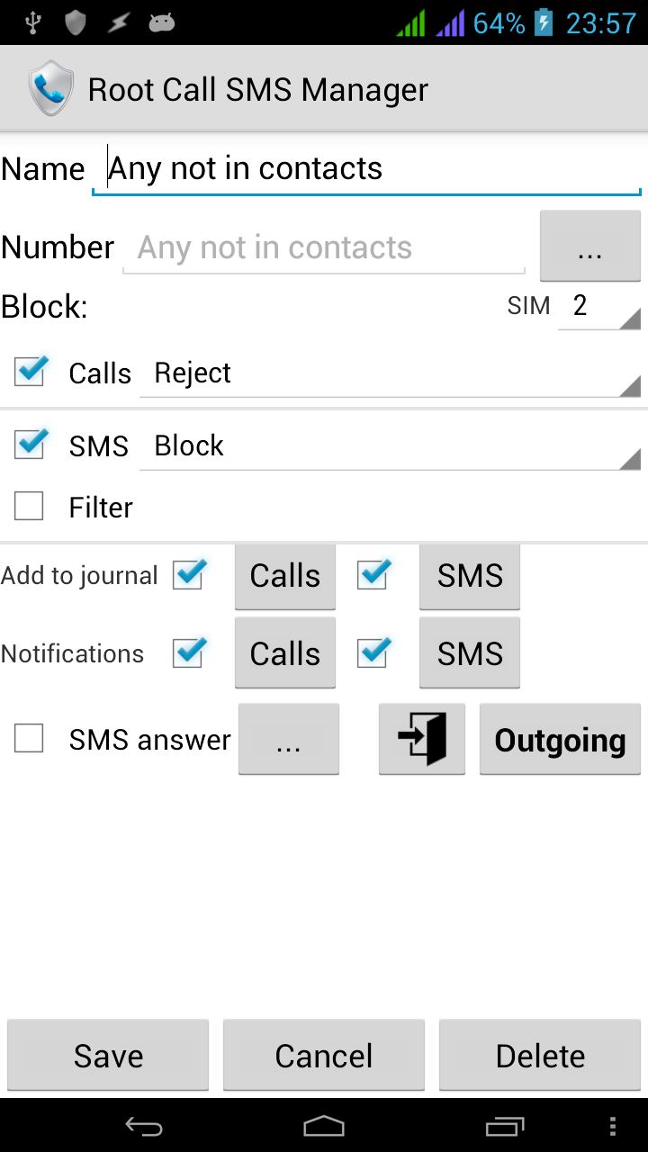 Root Call SMS Manager Screenshot 2