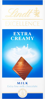 Lindt Excellence Milk Chocolate - Extra Creamy, 100g