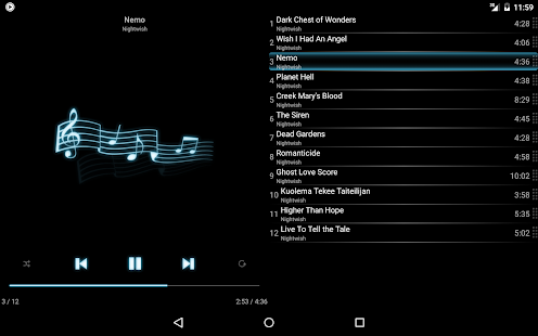 mMusic Mini Audio Player Screenshot