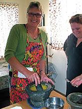 Photo: Judy making satay marinade