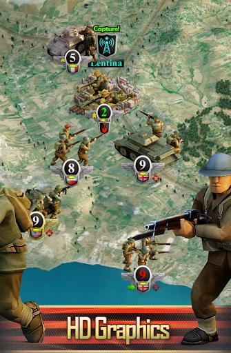 Frontline: Western Front - WW2 Strategy War Game screenshots 2