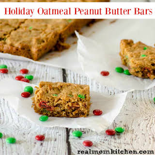 Holiday Oatmeal Peanut Butter Bars.