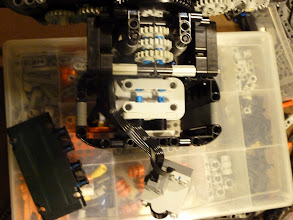Photo: Battery box is crammed in with the wires and such