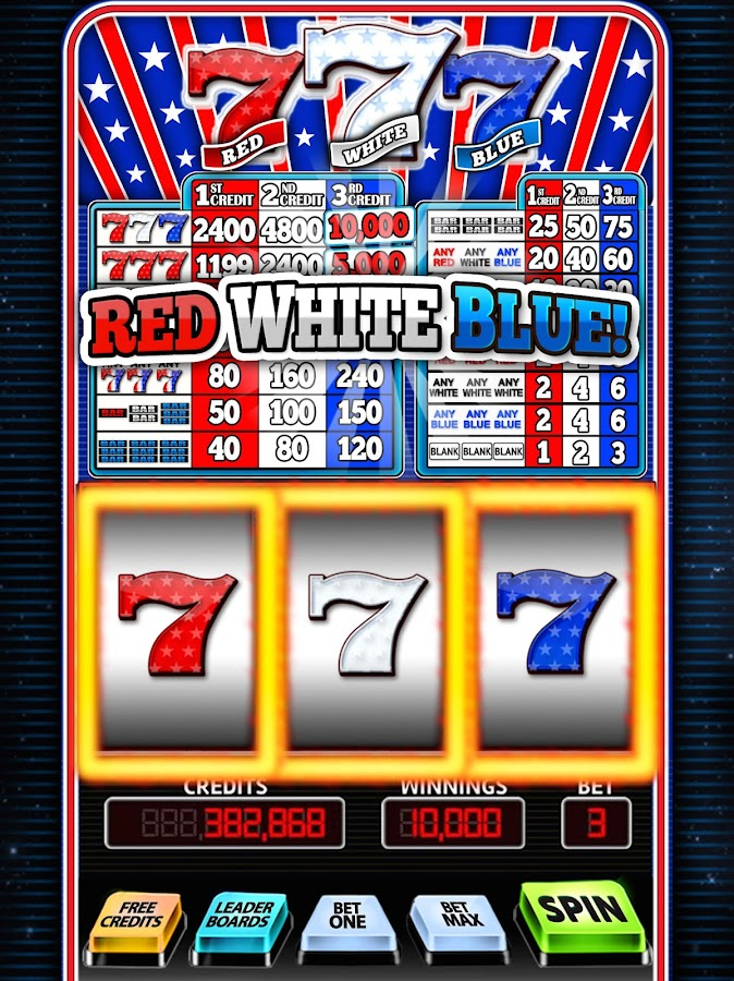 Red White Blue Slots - Free to Play Online Casino Game