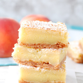 Peach Nectar Custard Bars