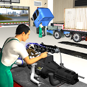 USA Truck Mechanic Garage 3D Sim: Auto Repair Shop